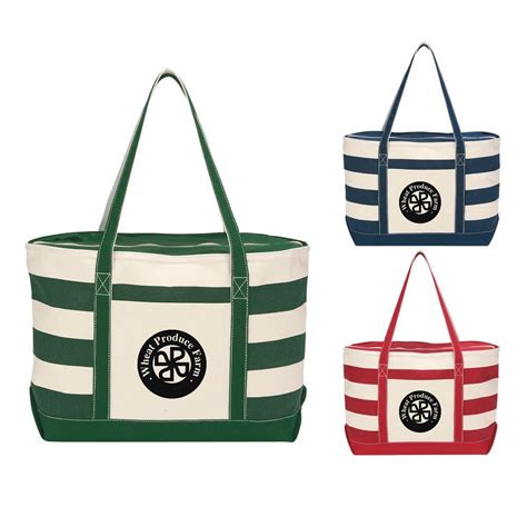 nautical canvas cotton canvas nautical tote personalization available positive promotions