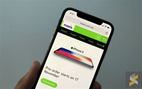 you pre order the iphone x from maxis this friday at midnight soyacincau