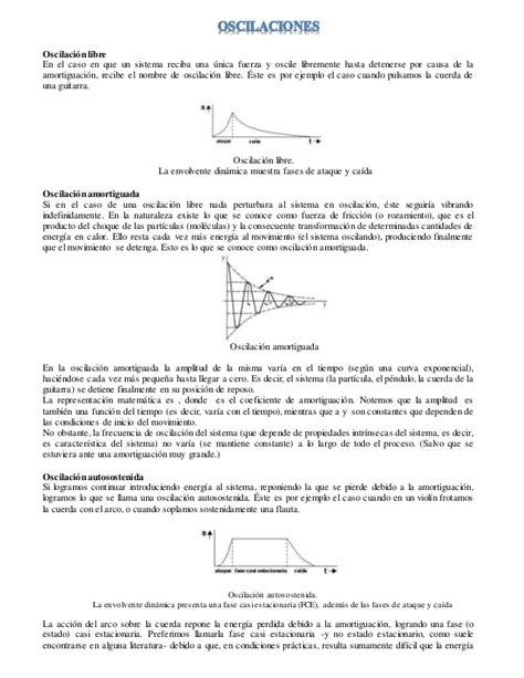 oscilacion autosostenida movimiento arm 243 nico