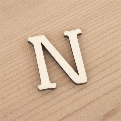 Wooden 3cm Alphabet ~ Letter N   Artcuts