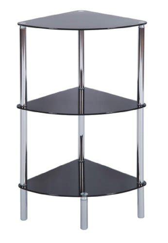 Shelf With Legs by 3 Tier Sleek Stylish Black Glass Shelf With Chrome Legs