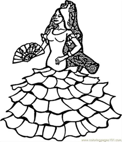 coloring pages spanish dancer countries gt spain free