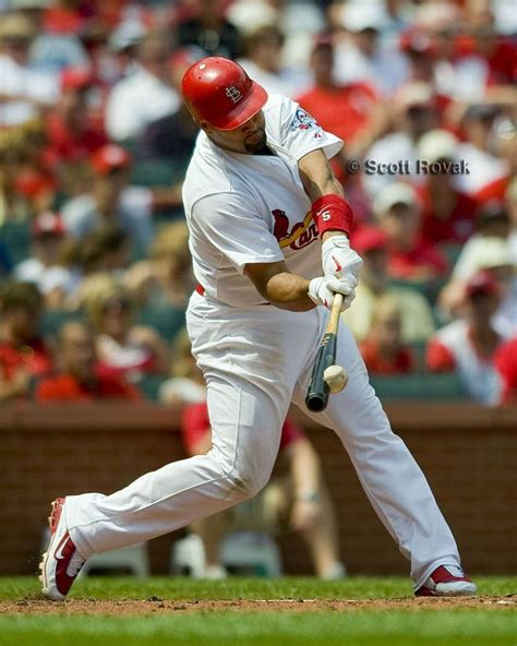 Photo Of Pujols Making Contact Antiques Baseball Club
