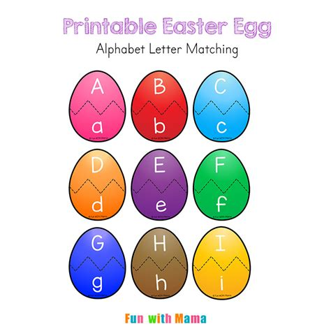printable easter alphabet letters easter alphabet letter match activity for preschoolers