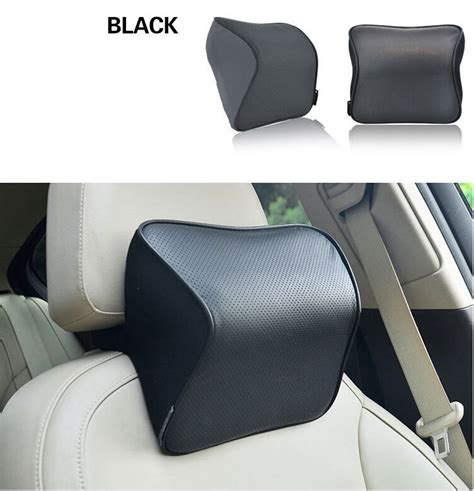 1pcs neck support pillow leather memory cotto car pillow