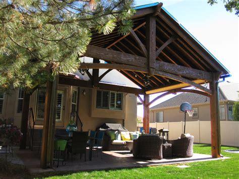 timber framed pavilion kit outdoor living room
