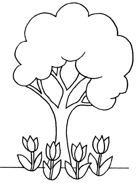 Tree Print Out Az Coloring Pages Simple Tree Coloring Pages