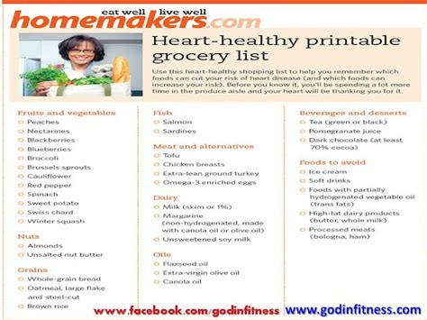 printable heart healthy recipes heart healthy shopping list shared workouts and recipes