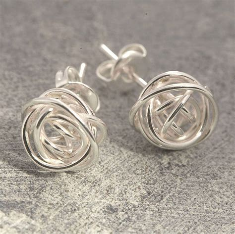 Sterling Silver Earring nest stud sterling silver earrings by otis jaxon silver