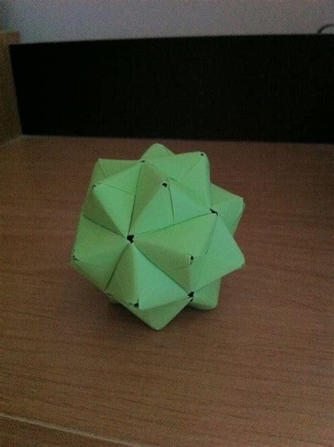 sonobe stellated icosahedron origami fan art