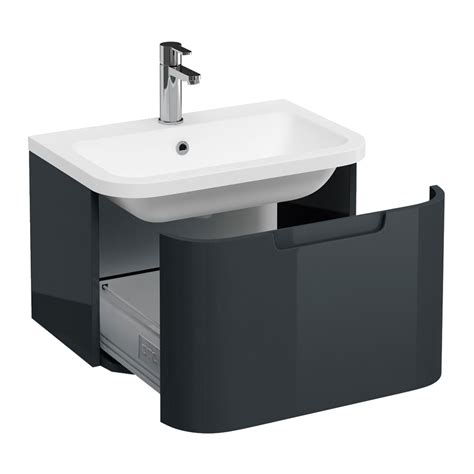 Bq Plumbing by Compact Wall Hung Vanity Unit With Quattrocast Basin