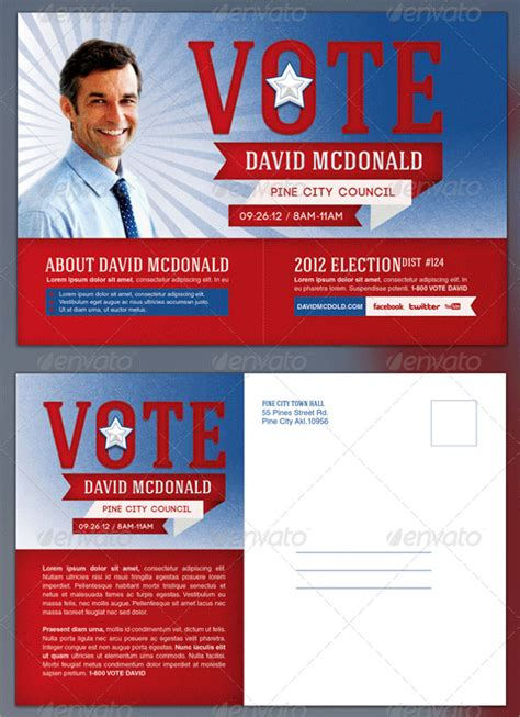 Election Postcard Template Political Postcard Template 12 Free Psd Vector Eps Ai Format Download Free Premium