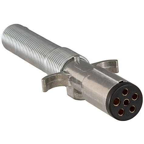 buyers tc2061 6 pin metal trailer end connector with