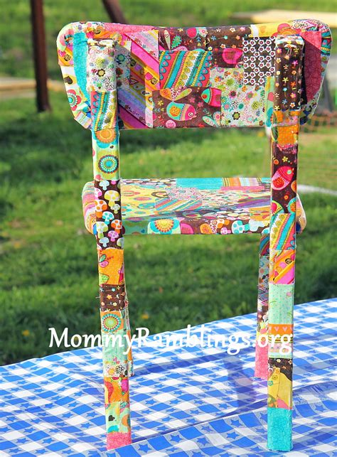 Decoupage Chair - almost finished with the decoupage table and chairs