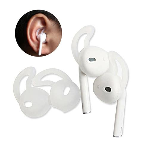 Silicon Earpad For Apple Earpod Airpod 4 Pair 1 pair silicone gel earphone soft cover for iphone 7 7 plus etc transparent ebay