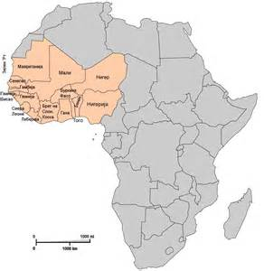 where is west on a map west africa map map2