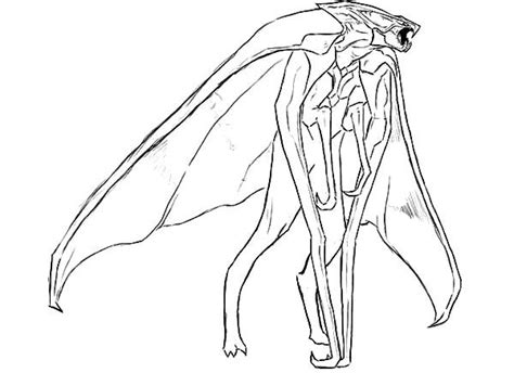 godzilla 2 coloring pages 59 best lineart monsters demons images on pinterest
