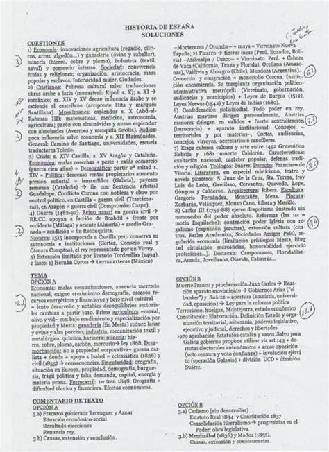 historia 738 junio 2010 solucionario examen de historia de espa 241 a de selectividad junio 2010 paperblog