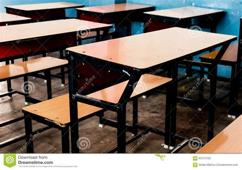 classroom benches wooden benches in a classroom stock photo image 63127342