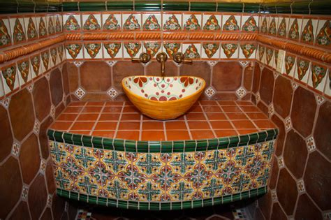 mexican tile bathroom by clay imports