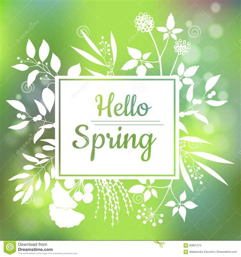 17 best images about decor greens of spring on pinterest green colors search and light table hello spring hand drawn lettering with flourish and leaves