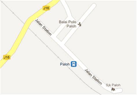 Ktm Intercity Map Paloh Railway Station Mrt My