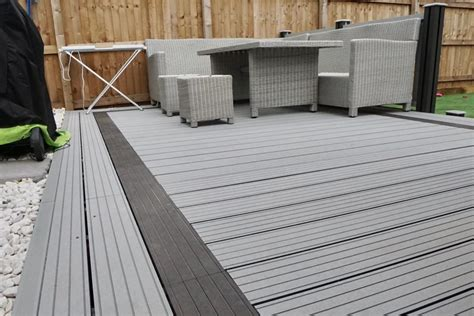 grey composite decking  fencing paving traders
