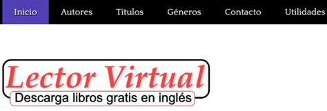 lector virtual libros gratis para descargar en ingl 233 s y espa 241 ol libros en ingles gratis descargar libros