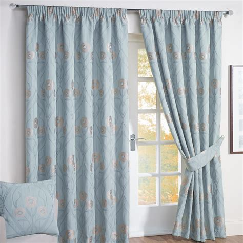 images of curtains montrose duck egg blue floral jacquard lined curtains