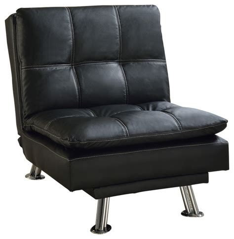 Black Leather Accent Chair Faux Leather Chair Black Armchairs And Accent Chairs By All In One Furniture