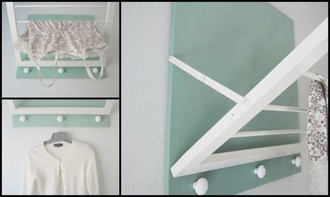 Wall Mounted Drying Rack Diy by Diy Wall Mounted Drying Rack Diy Projects For Everyone