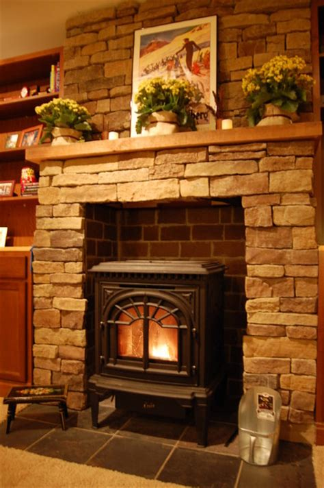 Wood Stove Design Ideas by Pellet Stove