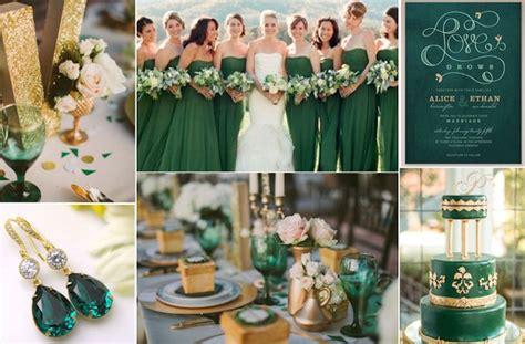 emerald green gold wedding ideas the green