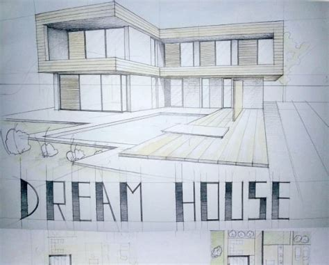 modern house drawing modern house drawing perspective floor plans design