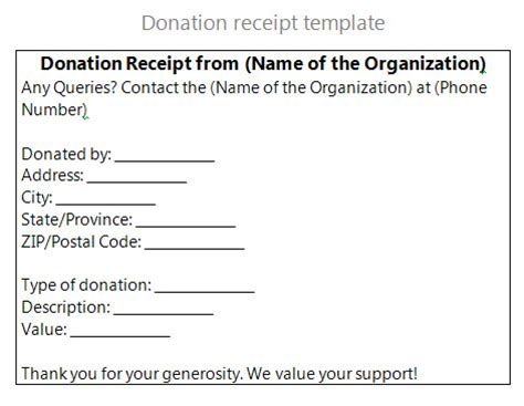 charity donation receipt template donation letter for non profit donation letter for non