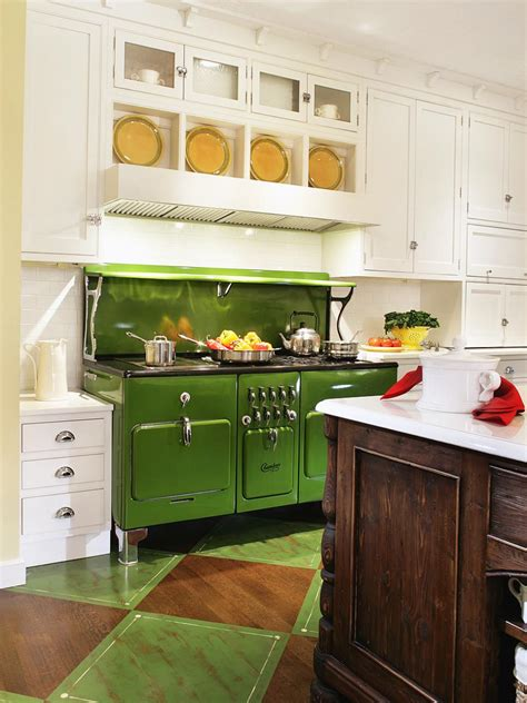 green kitchen decor apple green color palette apple green color schemes hgtv