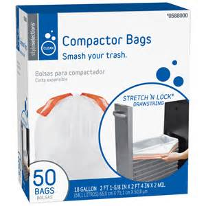 trash compactor bags shop style selections 50 count 18 gallon compactor trash bags at lowes com