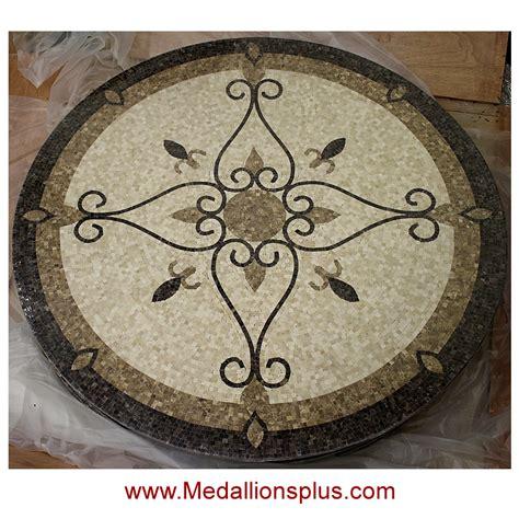 elegante 48 quot polished mosaic floor medallion