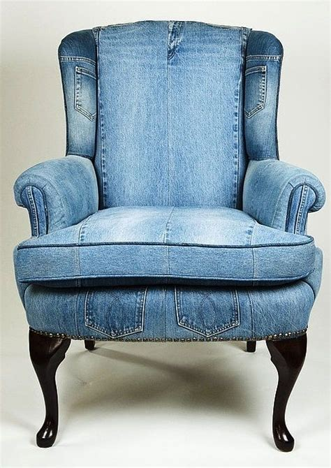denim armchair denim upholstered chair house and garden pinterest