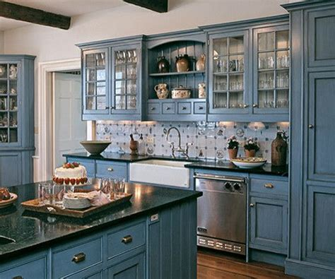 Decorating Ideas For Blue Kitchen 17 Best Ideas About Blue Kitchen Cabinets On