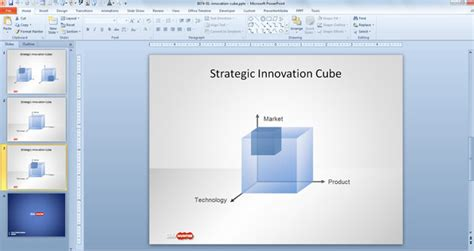 Free Strategy Innovation Cube Template For Powerpoint Cube Powerpoint Template