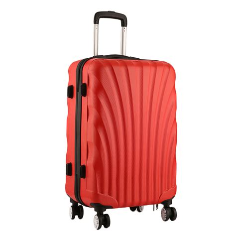 Shell Cabin Suitcase by Shell 4 Wheels Spinner Suitcase Set Luggage Trolley