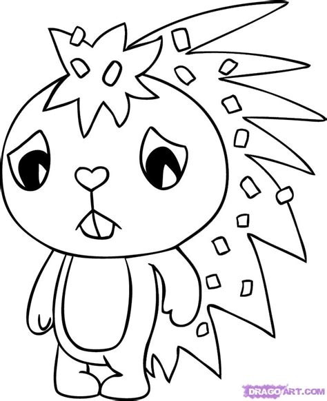 flippy happy tree friends coloring pages