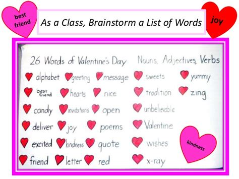 valentines day adjectives s day activities