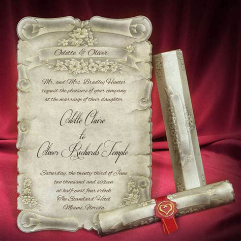 wedding scroll template 28 creative wedding invitation cards you need to see for