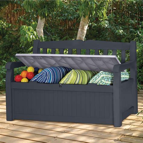 banc de jardin en resine coffre banc de jardin r 233 sine keter bogota 265l gris