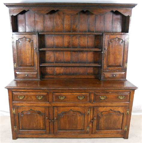 The Dresser Company by Dresser Large Oak Storage Sideboard Cupboard With Rack