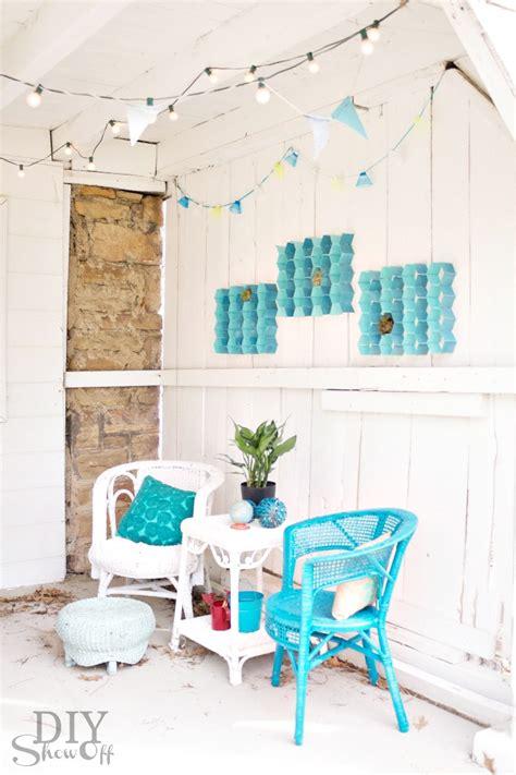 easy diy indoor outdoor honeycomb wall artdiy show