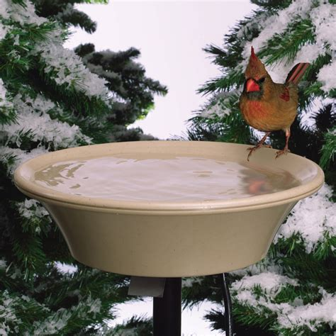 heated bird bath with tilt mount the green head