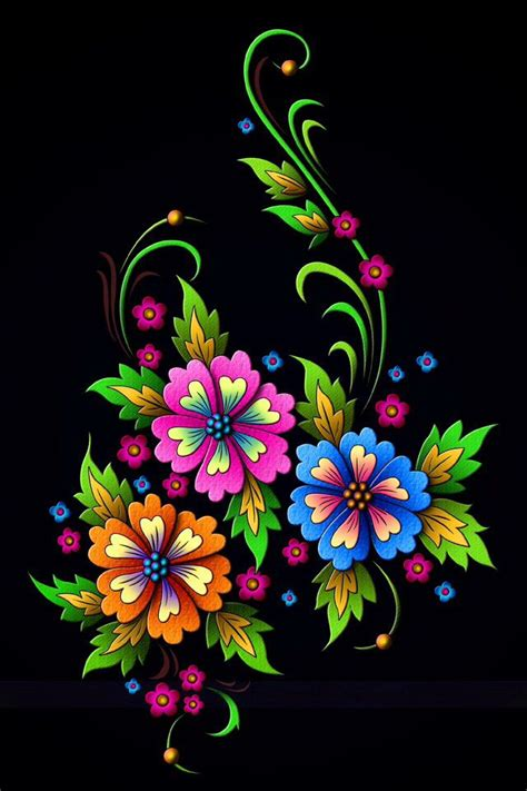 flower pattern on black background 164 best colourful flowers images on pinterest